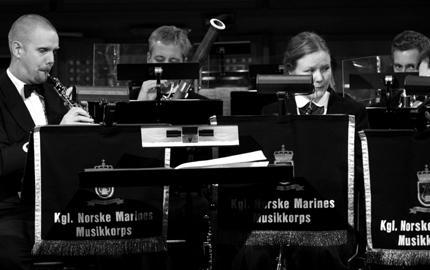 Marinemusikken spilte under prisutdelingen.