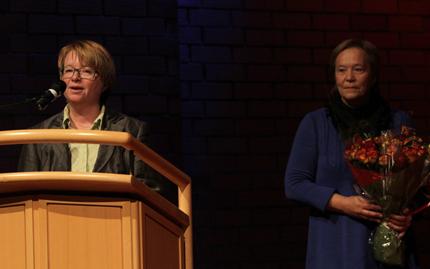 Prorektor Berit Kjellstad ved NTNU og dekan ved det humanistiske fakultet, Kathrine Skretting+