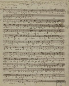 Fra L.M. Lindeman:«Kingos Psalmebog» ( mus.ms. 6847)