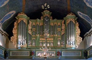 Orgelfasaden i Oslo domkirke