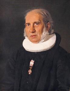 Nikolai Frederik Severin Grundtvig (1783–1872), malt i 1843 av Christian Albrecht Jensen (1792–1870)