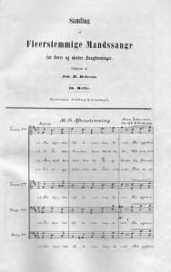 Fra Joh. D. Behrens Samling af flerstemmige Mandssange