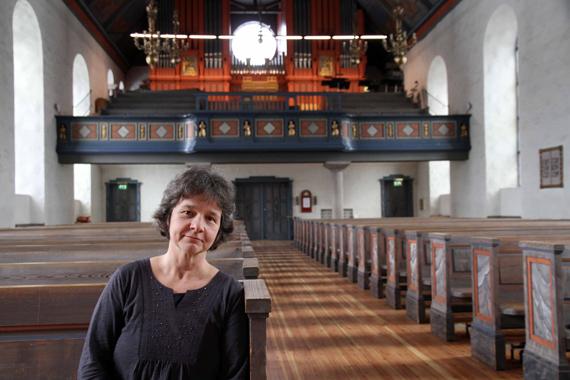 Organist Inger-Lise Ulsrud i Ris kirke